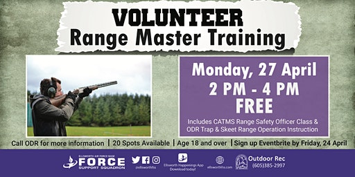 Ellsworth AFB Volunteer Range Master Training (Trap & Skeet) April 27