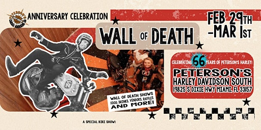 Wall of Death Anniversary Party!