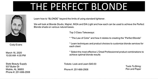 The Perfect Blonde L'Oreal