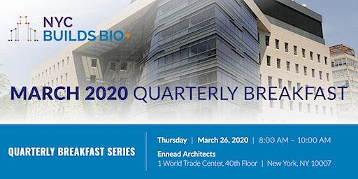 NYC Builds Bio+ March Quarterly Breakfast