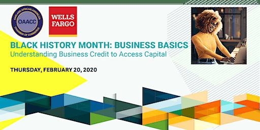 BLACK HISTORY MONTH: BUSINESS BASICS Understanding Business Credit