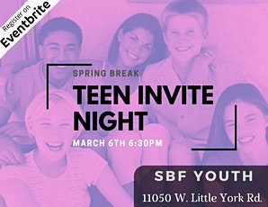 Shine Youth Ministry: Invite Night Spring Break Kick off tickets