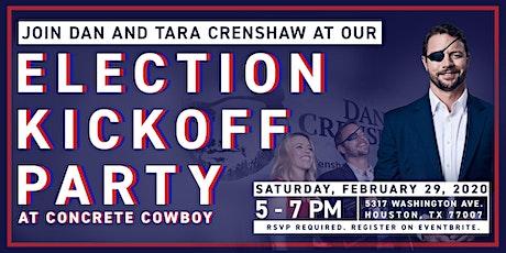 Congressman Dan Crenshaw's 2020 Election Kickoff Party tickets