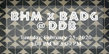 BHM x BADG @ DDB tickets