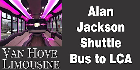 Alan Jackson Shuttle Bus to LCA from O'Halloran's / Orleans Mt. Clemens tickets