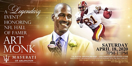 A Legendary event honoring NFL Hall of Famer Art Monk at Maserati tickets