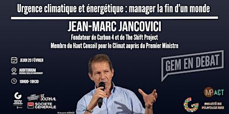 Conférence de Jean-Marc Jancovici billets