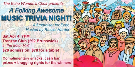 Echo Women's Choir presents: Second Annual Music Trivia Night! tickets