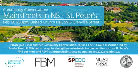 Mainstreets in Nova Scotia: St. Peter's Focus Group tickets