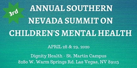 3rd Annual Southern Nevada Summit on Children's Mental Health tickets