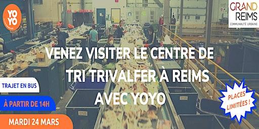 Visite du centre de tri Trivalfer à Reims