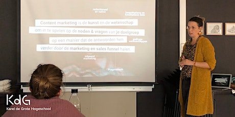 "Masterclass ""Content Marketing"" (Geerlinde Pevenage) billets"