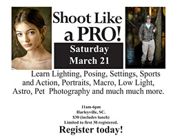 Shoot with the Pros Photography Event