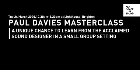 Paul Davies Masterclass tickets