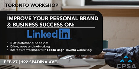 Workshop: Improving your Personal Brand and Business Success on LinkedIn tickets