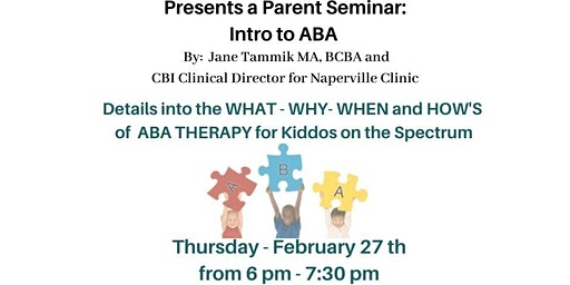Intro to ABA Therapy Presented by The Centers for Behavior Intervention