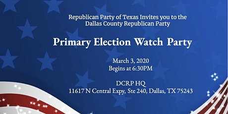 Primary Election Watch Party tickets