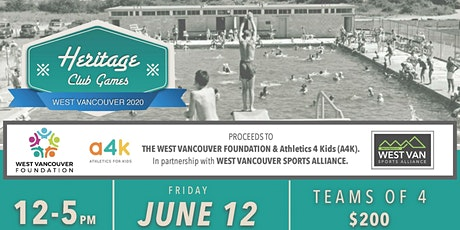 Heritage Club Games West Vancouver 2020 tickets