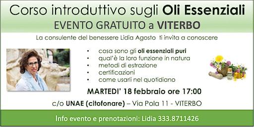 VITERBO - Corso Introduttivo Gratuito sugli Oli Essenziali