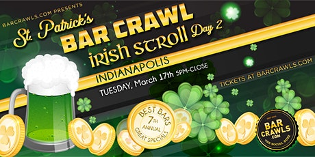 Barcrawls.com Presents Indianapolis St. Patrick's Day Bar Crawl Day 2 tickets