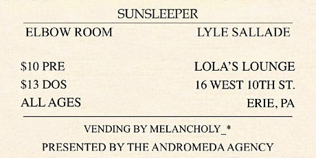 A Will Away with Sunsleeper and Elbow Room tickets