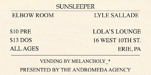 A Will Away with Sunsleeper and Elbow Room