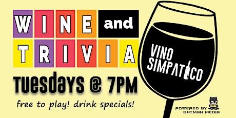 WINE & TRIVIA @ VINO SIMPATICO tickets