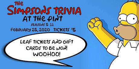 Simpsons Trivia tickets
