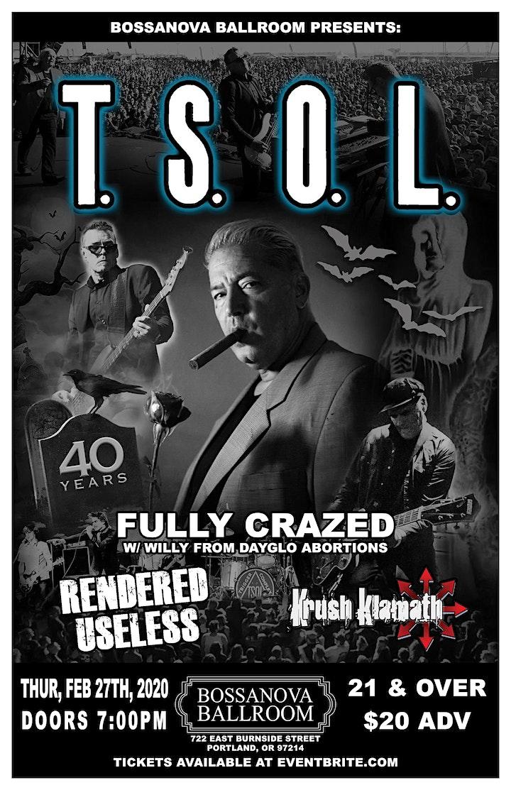 T.S.O.L. 40th Anniversary tour PORTLAND image