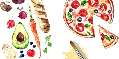 Paint Food Illustration with Watercolour tickets