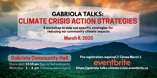 Gabriola Talks: Climate Crisis Action Strategies