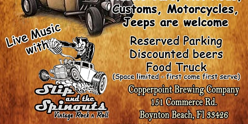Hop Wheels Cruise In at Copperpoint Brewing Company