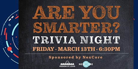 NexCore Sponsors Mission St. Louis trivia night tickets