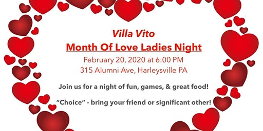 Ladies Night - Month of Love - Choice (Friend or Love)!