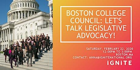 Boston College Council: Let's Talk Legislative Advocacy! tickets