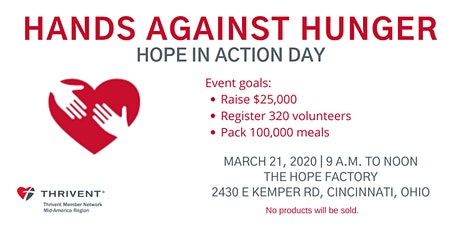 Hands Against Hunger - Hope in Action Day tickets