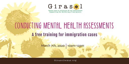Spring 2020: Conducting Mental Health Assessments for Immigration Cases
