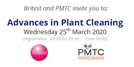 Britest & PMTC : Advances in Plant Cleaning tickets