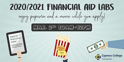2020/2021 Financial Aid Lab - March 2 - 10am-12pm