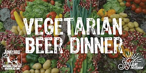 Vegetarian Beer Dinner Feb 17th at Junkyard Brewing Co.