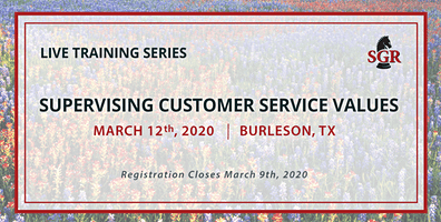 Supervising Customer Service Values - Live Training - Burleson, TX