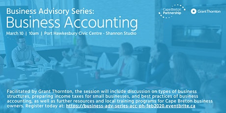 Business Advisory Series: Business Accounting (Port Hawkesbury) tickets