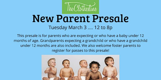 The Clothesline New Parent, Grandparent, & Foster Parent Presale