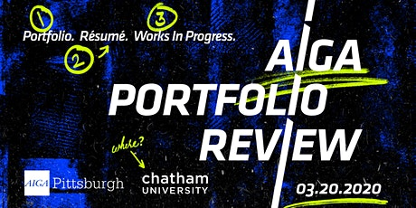 AIGA Pittsburgh Portfolio Review 2020 tickets