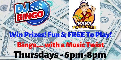 Play DJ Bingo FREE In Leesburg - Papa Pineapples