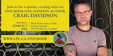 An Evening with Craig Davidson tickets