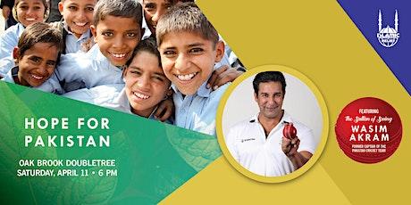 Oak Brook, IL: Hope For Pakistan Dinner with Wasim Akram tickets
