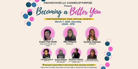 Becoming A Better You Empowerment and social event tickets