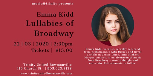 Lullabies of Broadway - Emma Kidd