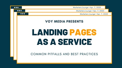 Marketers Lounge: Landing Pages As A Service tickets